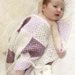 Gehaakte DROPS babydeken met vierkantjes