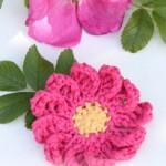 Gehaakte bloem van DROPS