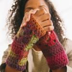 Handschoenen zonder vingers haken