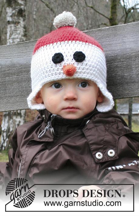 Kindermuts haken van een sneeuwpop