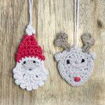 Kerstman en rendier kersthangers haken