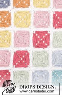 Gehaakte deken met granny squares van DROPS