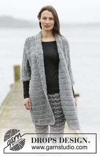 Lang gehaakt vest voor vrouwen